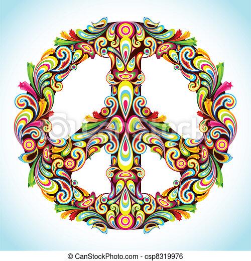 Una paz colorida - csp8319976