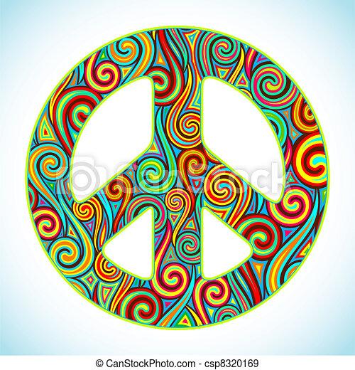 Una paz colorida - csp8320169