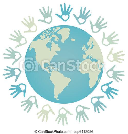 Diseño de paz mundial colorido. - csp6412086