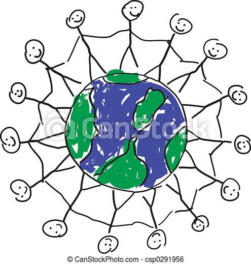 Paz De Mundo Como Gente Manos él Sostener A Niño Mundo