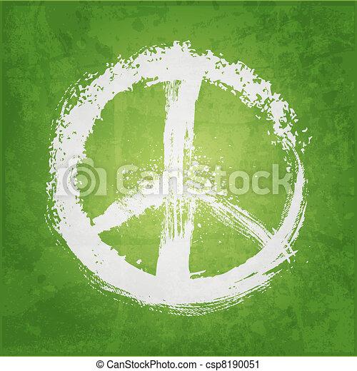 Ilustración de signo de paz - csp8190051