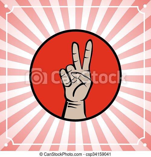 Mano de paz - csp34159041