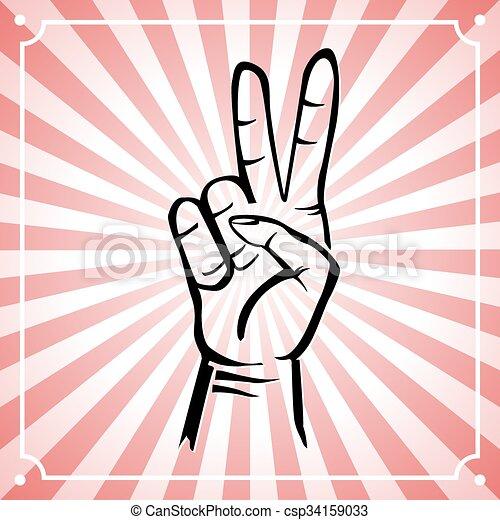 Mano de paz - csp34159033