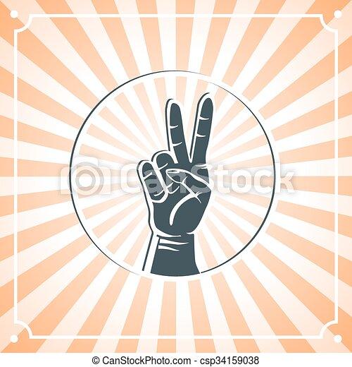 Mano de paz - csp34159038