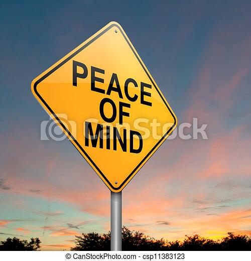 Paz mental. - csp11383123