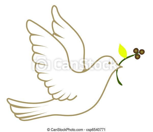 Paloma de la paz - csp6540771