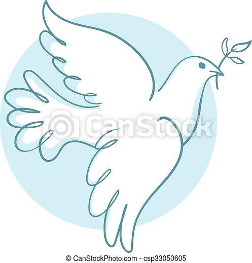 Paloma de paz - csp33050605