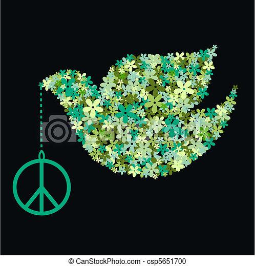 Paloma de la paz - csp5651700