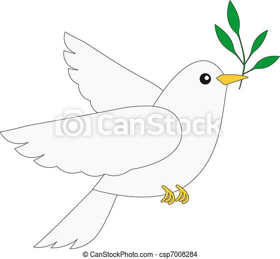 Paloma de la paz - csp7008284