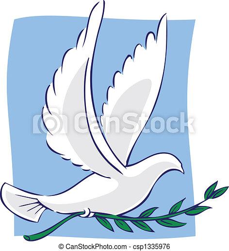 Paloma de la paz - csp1335976