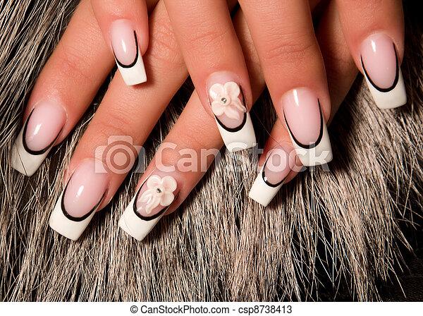 paznokcie, sztuka, piękny - csp8738413