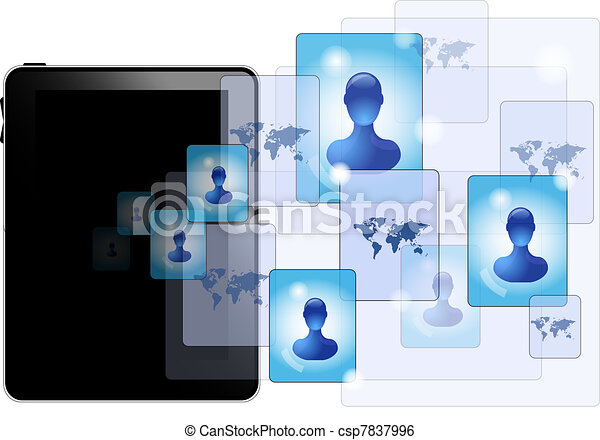 pc , κοινωνικός , δισκίο , μέσα ενημέρωσης  - csp7837996