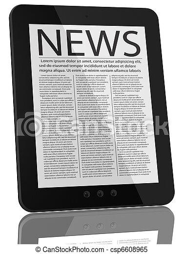 pc コンピュータ, タブレット, ニュース - csp6608965