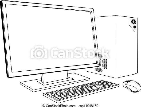 pc, ワークステーション, コンピュータ, デスクトップ - csp11048160