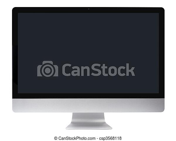 pc 컴퓨터, 매끄러운, 모니터 구실을 하다 - csp3568118