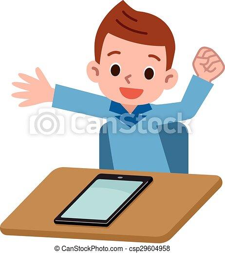 pc jouer tablette enfants vecteur illustration clipart vectoriel rechercher illustration. Black Bedroom Furniture Sets. Home Design Ideas