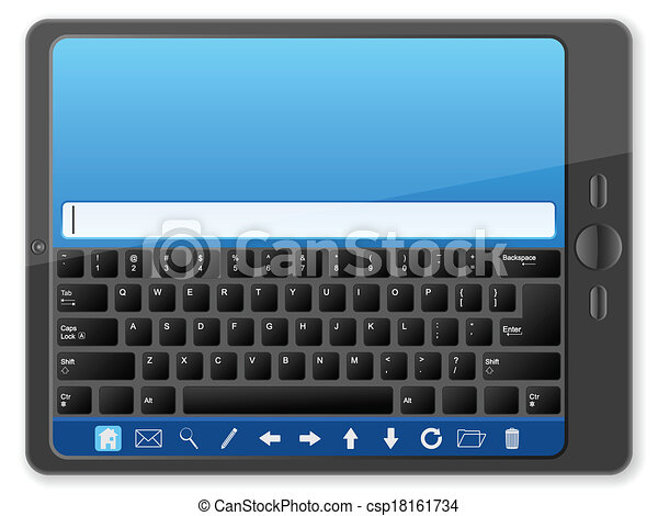 PC tablet with keyboard - csp18161734