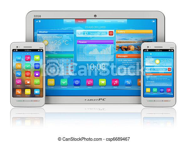 pc tavoletta, smartphones - csp6689467