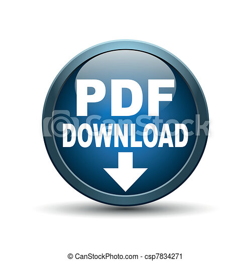 Pdf Button - csp7834271