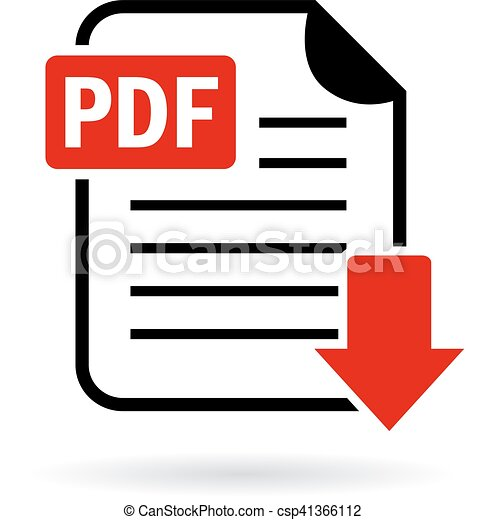 pdf document download icon isolated on white background vector clip rh canstockphoto com document clipart png document clip art free