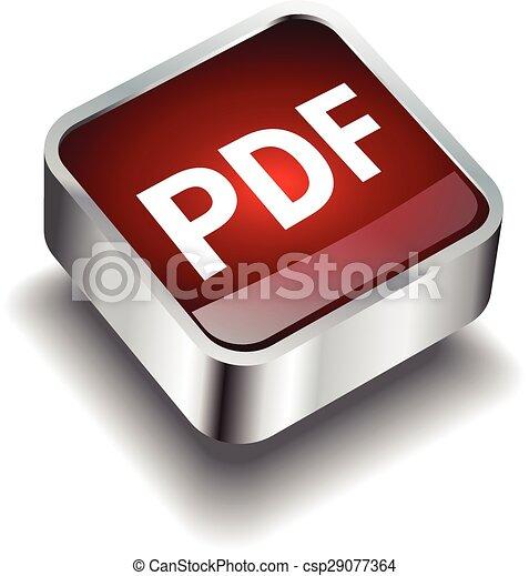 pdf download icon button internet - csp29077364