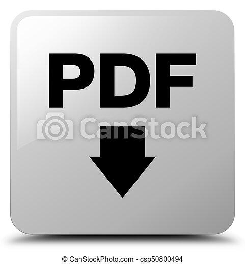 PDF download icon white square button - csp50800494