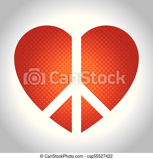 Peace And Love Design Heart Of Peace And Love Theme Vector