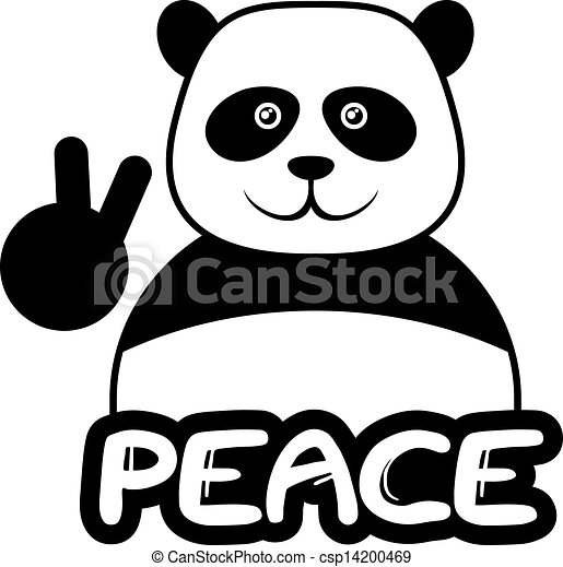 Peace bear - csp14200469