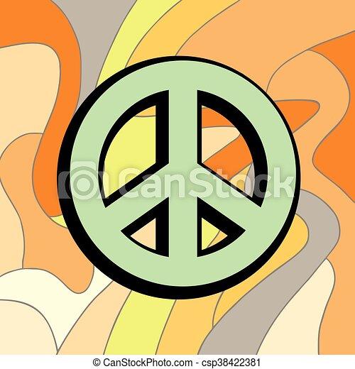 peace color symbol - csp38422381