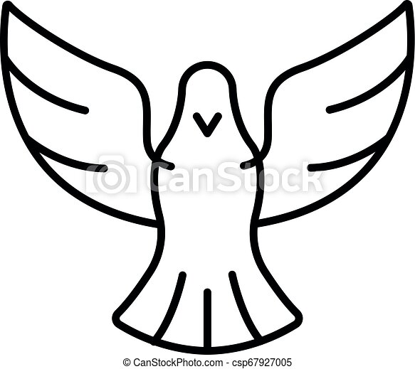 Peace dove icon, outline style