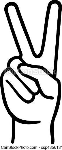 Peace fingers - csp43561316