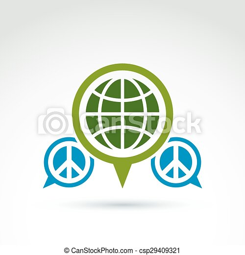 Peace For A World Global Peace Icon Vector Conceptual Unusual