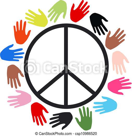 peace freedom diversity - csp10986520