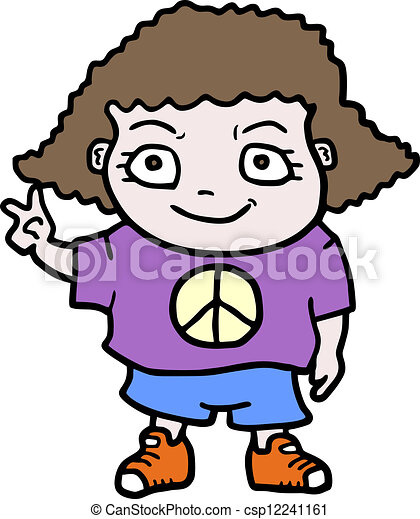 Peace girl - csp12241161