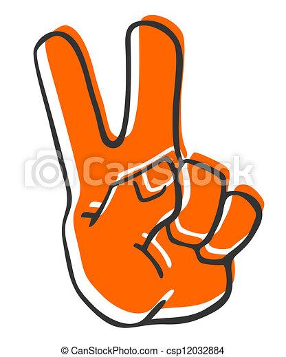 Peace hand - csp12032884