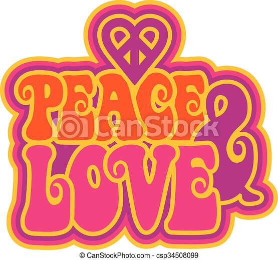 Peace & Love - csp34508099