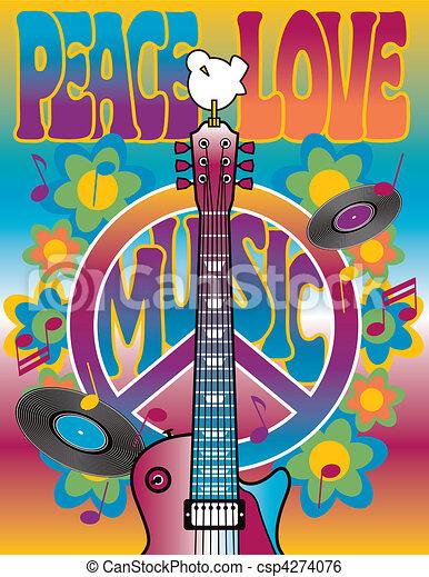 La música de amor y paz - csp4274076