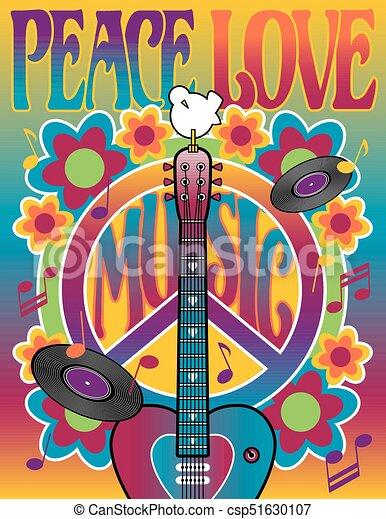Peace Love Music - csp51630107