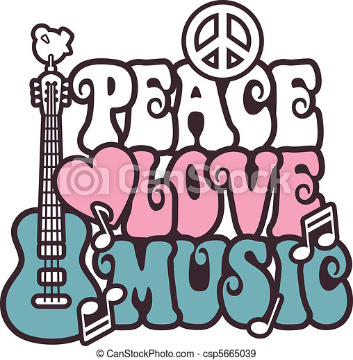 Peace Love Music_Pink-Blue - csp5665039