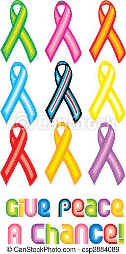 Peace Ribbon Symbol - Give peace a chance - csp2884089