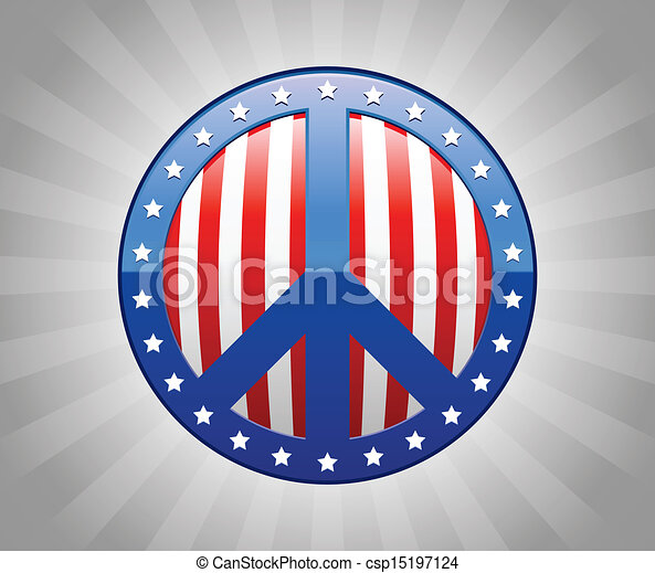 Peace Sign America Symbol Illustrat A Peace Sign Designed Vector