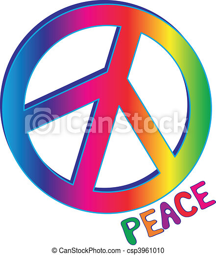 peace sign and peace text hand drawn peace text in rainbow gradient rh canstockphoto com peace sign vector png peace sign vector art