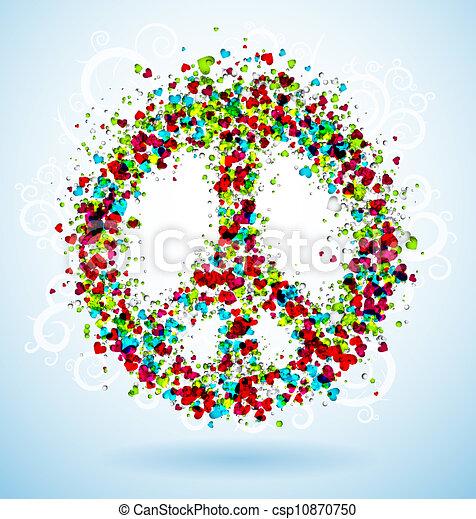 Peace sign - csp10870750