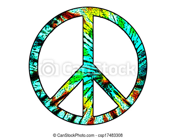 d17cd588 Peace sign. Tie-dyed peace sign. .