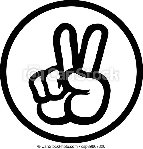 peace sign hand vector illustration search clipart drawings and rh canstockphoto com vector peace sign fingers peace sign vector art