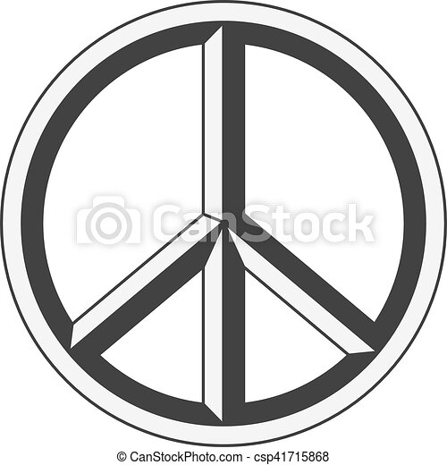 peace sign hippie symbol of peace clip art vector search drawings rh canstockphoto com free vector hand peace sign vector peace hand sign