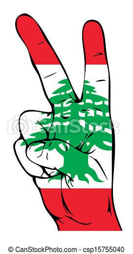 peace sign of the lebanese flag eps vector search clip