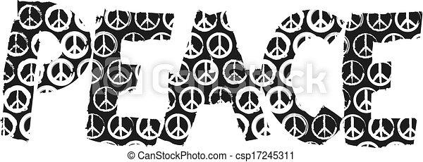 peace sign - csp17245311