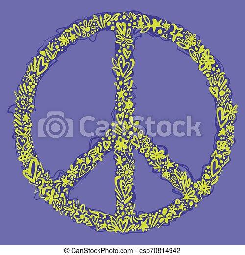 Peace symbol - csp70814942