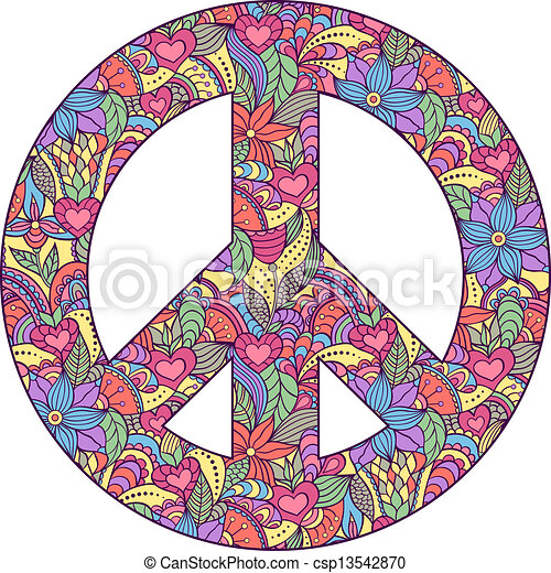 peace symbol on white background - csp13542870